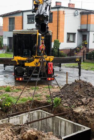 septic system installation scene in bakersfield